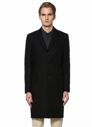 Junk De Luxe Klasik Yün Palto Siyah